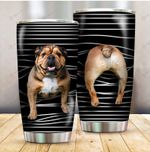 Dog Bulldog Funny Stripes Dog Mom ALL OVER PRINTED Tumbler v1 hh0617101