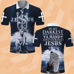 God In the darkest hour I reached for a hand and found Jesus ALL OVER PRINTED SHIRT 0617200