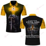 It ain't over until God says It's over Knight Christian Jesus ALL OVER PRINTED SHIRTS DH061708