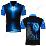 Jesus is my King my life my all my Everything blue lion ALL OVER PRINTED SHIRTS DH061706