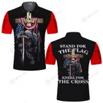 Stand for the Flag kneel for the cross Jesus knight Christian ALL OVER PRINTED SHIRTS DH061905