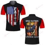 Faith American Flag Jesus One Nation under God ALL OVER PRINTED SHIRTS DH061906