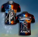 God The devil saw me with my head down Satan Knight Templar ALL OVER PRINTED SHIRT 0619104