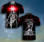God I served the only king Knight Templar Kneeling ALL OVER PRINTED SHIRT 0619102