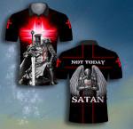 God Not today Satan Knight Templar ALL OVER PRINTED SHIRT 0619103