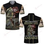 She who kneels before God can stand before anyone Knight Woman Warrior ALL OVER PRINTED SHIRTS DH062004