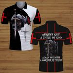 August guy A child of God a man of Faith a warrior of Christ knight Christian Jesus  ALL OVER PRINTED SHIRTS DH062003