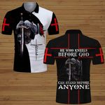 He  who kneels before God can stand before anyone Knight Christian Jesus ALL OVER PRINTED SHIRTS DH062006