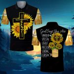 God Says You Are Sunflower Cross ALL OVER PRINTED SHIRT 0622103