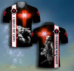 God Child of God Warrior of Christ Ribbon Templar ALL OVER PRINTED SHIRT 0623101