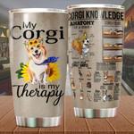 Corgi is my therapy Corgi Knowledge Vintage ALL OVER PRINTED Tumbler v1 hh0624001
