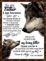 Wolf to my father Vintage ALL OVER PRINTED Quilt Blanket v1 hh0624002