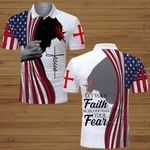 Let your faith be bigger than your fear American Flag Jesus ALL OVER PRINTED SHIRTS DH062414