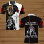 Life is short Death is sure Sin the cause Christ the Cure God Jesus ALL OVER PRINTED SHIRTS hoodie 3d 0624101