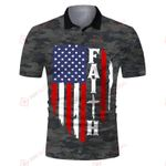 Faith American Flag Jesus God Christ camo ALL OVER PRINTED SHIRTS DH062415