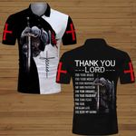 Thank you Lord for your being my savior Knight Jesus Christian ALL OVER PRINTED SHIRTS DH062505