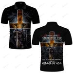 I would rather stand with God Knight lion Jesus Christian ALL OVER PRINTED SHIRTS DH062502