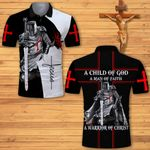 A child of God a man of Faith a warrior of Christ Knight Jesus Christian ALL OVER PRINTED SHIRTS DH062501