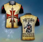 God Please be the Lord my rock Templar Kneeling Lion ALL OVER PRINTED SHIRT 0625100