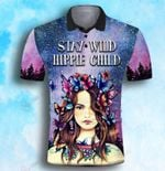 Hippie Girl Stay wild hippie child Butterfly Galaxy ALL OVER PRINTED SHIRT 0625103