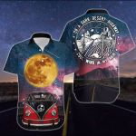Camping On a dark desrt highway Campervan Camping Car Galaxy Moon ALL OVER PRINTED SHIRT 0626100