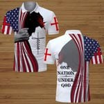 One Nation under God American Flag Jesus Christian ALL OVER PRINTED SHIRTS DH062601