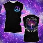 Hippie Every little thing will be alright Galaxy Peace Pocket ALL OVER PRINTED SHIRT 0627102