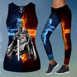 God Fire and Water Cross Knight templar combo Tank + Legging ALL OVER PRINTED HH062705