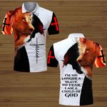 I'm no longer a slave tor fear I am a child of God lion Jesus Christ ALL OVER PRINTED SHIRTS DH063005