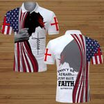 Don't be afraid just have faith American Flag Jesus Christ  ALL OVER PRINTED SHIRTS DH063001