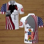 In God we trust Firefighter American Flag Jesus  ALL OVER PRINTED SHIRTS DH063009