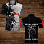 A child of God a man of faith a warrior of Christ Knight Templar Jesus Christian ALL OVER PRINTED SHIRTS DH063008
