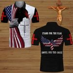 Stand for the flag kneel for the Cross Jesus Christian ALL OVER PRINTED SHIRTS DH070101