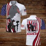 The devil saw me until I said Amen American Flag Veteran Jesus Christ ALL OVER PRINTED SHIRTS DH070201