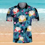 Hippie Campervan Camping RV Tropical Floral Camping Summer Vacation ALL OVER PRINTED SHIRT HH0703102