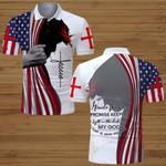 Way maker US Flag Jesus Christian  ALL OVER PRINTED SHIRTS DH070303