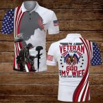 I am a Veteran I fear God and my wife you are neither Veteran US Flag Jesus Christian ALL OVER PRINTED SHIRTS DH070301