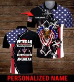 I am a Veteran I believe in God Family and Country American Flag Jesus Christ Personalized name ALL OVER PRINTED SHIRTS DH070401