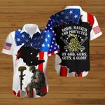 U.S Veterans Born Raised and protected by God Guns Guts and Glory ALL OVER PRINTED SHIRTS hoodie 3d 0704895