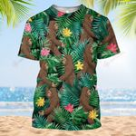 Hippie Bigfoot Forest Tropical Floral Camping Summer Vacation ALL OVER PRINTED SHIRT HH0707100
