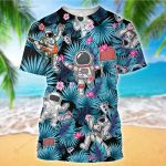 Hippie Astronaut Galaxy Funny Forest Tropical Floral Camping Summer Vacation ALL OVER PRINTED SHIRT HH0707102
