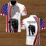 A Child of God a man of Faith a warrior of Christ Knight Jesus American Flag ALL OVER PRINTED SHIRTS DH070901