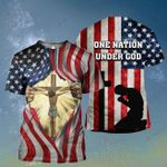 God One nation under God Usa American Flag ALL OVER PRINTED SHIRT HH0709100