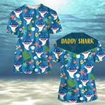 Hippie Daddy SharK Tropical Floral Summer Vacation ALL OVER PRINTED SHIRT HH0710105