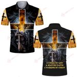 A Child of God a man of faith a warrior of Christ lion knight Jesus Christian ALL OVER PRINTED SHIRTS DH071102