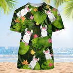 Hippie Llama Tropical Flower Summer Vacation ALL OVER PRINTED SHIRT HH0711100
