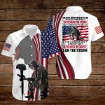 I am a Child of God a man of Faith a Soldier of Christ Veteran Jesus American Flag ALL OVER PRINTED SHIRTS DH071304