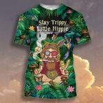 Hippie Man Smoking Stay trippy Little Hippie Tropical Floral ALL OVER PRINTED SHIRT HH0715101