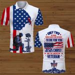 Only two defining forces Jesus Christ and the American Veteran US Flag ALL OVER PRINTED SHIRTS DH071602