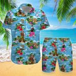 Fishing Tropical Floral Summer Vacation Surf Fishing Hawaii Shirt + Pants ALL OVER PRINTED HH0716102
